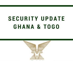 Ghana and Togo security update – April 2016