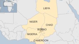 Borno State  - Nigeria map - OAMME Nigeria Update May 2016