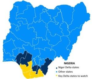Nigeria Niger Map