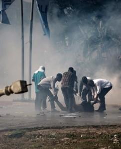 Violence after elections in Gabon, oamme.com