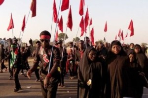 IMN (Shia) adherents on the march peacefully in Kano