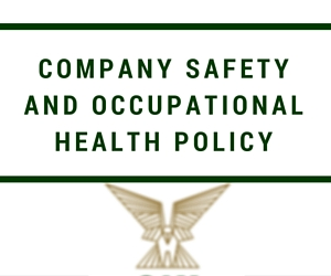 Company Safety and Occupational Health Policy