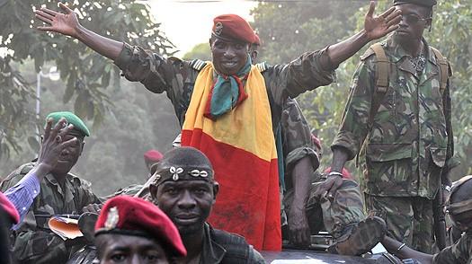 Captain (later President) Moussa Camara and military associates post-coup d'état