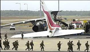 Sri Lankan Airways aircraft destroyed, Colombo International Airport
