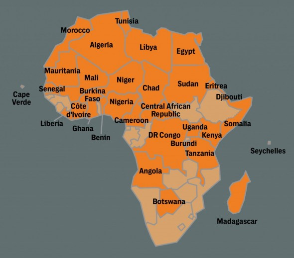 Figure 1 SOCOM deployments Africa wide 2017